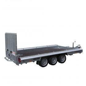 Porte engins 4m 3T5 3 essieux de1350kg