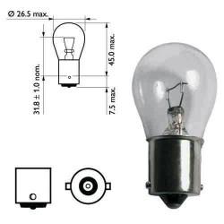 Ampoule BA15S 21W 12V X1