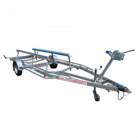6m - 1x1800 kg - 1800 kg - VLEMMIX - Remorque Porte-jet ski