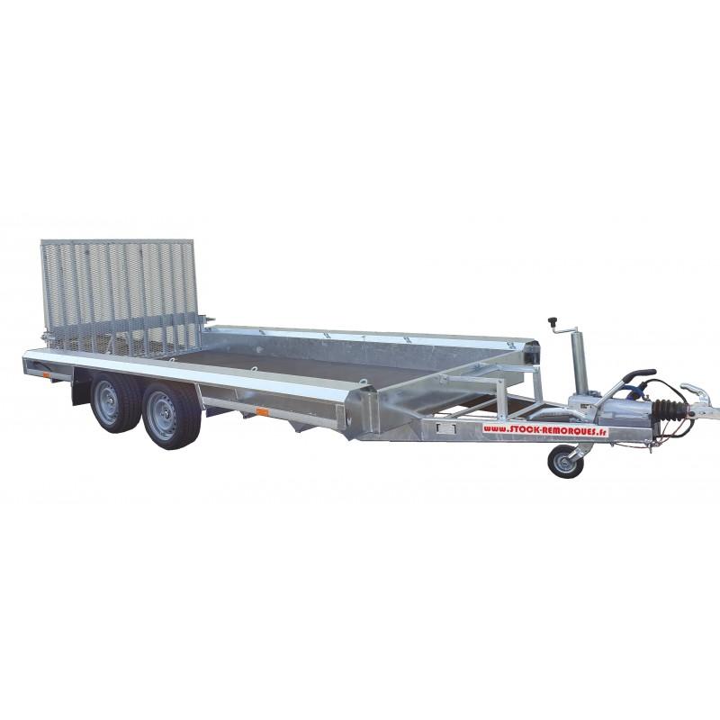 Porte engin 4m - 3500 kg - 2 essieux