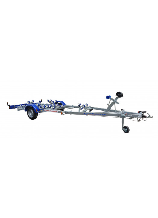 5m80 a 6m55 - 1800 kg - 1 essieux SUN WAY - Remorque Porte-Bateau