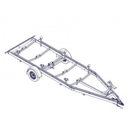 7m - 1800 kg - VLEMMIX - Remorque Porte-Bateau