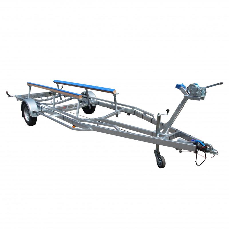 6m - 1x1350 kg - 1350 kg - VLEMMIX - Remorque Porte-Voilier