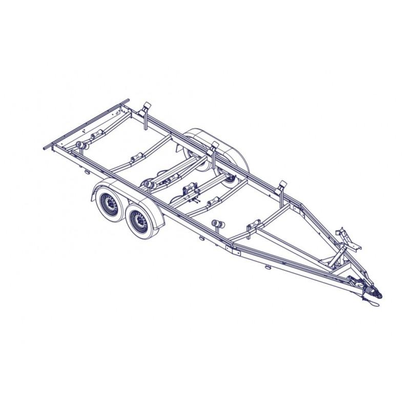 7m - 3000 kg - VLEMMIX - Remorque Porte-Bateau