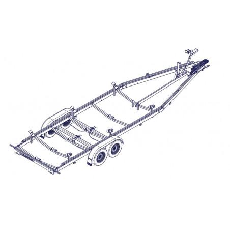 8m40 - 2x1500 kg - 3000 kg - VLEMMIX - Remorque Porte-Bateau