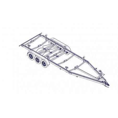 8m40 - 3 x 1500 kg - 3500 kg - VLEMMIX - Remorque Porte-Bateau